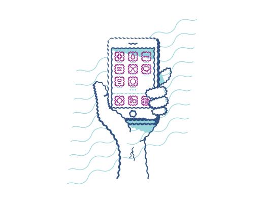 Mirando un teléfono con visión distorsionada cuando tienes astigmatismo